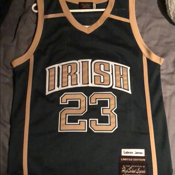 reputable site e4469 216f3 Lebron James high school jersey